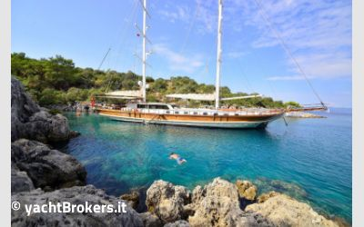 Customs 37 mt luxury gulet charter da AM Charter